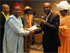 Emmanuel Ekop (President, AKISAN Maryland) Shakes Hands with Obong Umana (AKISAN National President).  Maryland Will be Hosting the 2010 National Convention